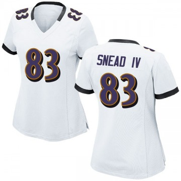 Women's Nike Baltimore Ravens Willie Snead IV White Jersey - Game