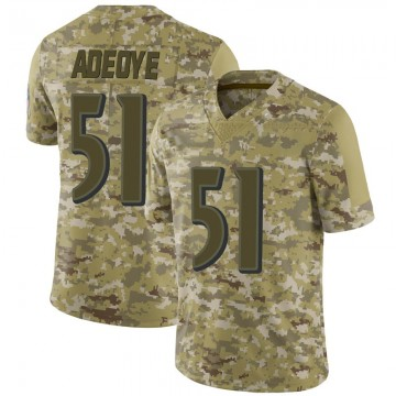 Youth Nike Baltimore Ravens Aaron Adeoye Camo 2018 Salute to Service Jersey - Limited