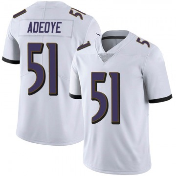 Youth Nike Baltimore Ravens Aaron Adeoye White Vapor Untouchable Jersey - Limited