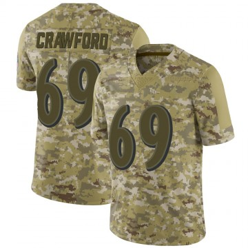 Youth Nike Baltimore Ravens Aaron Crawford Camo 2018 Salute to Service Jersey - Limited