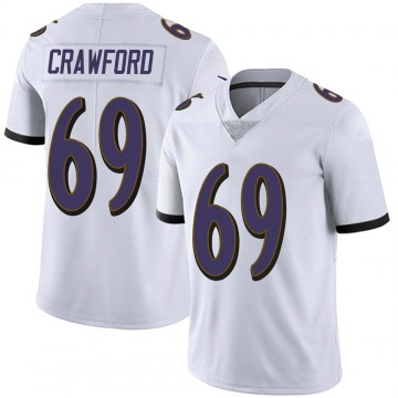 Youth Nike Baltimore Ravens Aaron Crawford White Vapor Untouchable Jersey - Limited