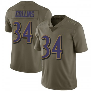 Youth Nike Baltimore Ravens Alex Collins Green 2017 Salute to Service Jersey - Limited