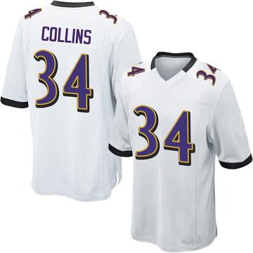 Youth Nike Baltimore Ravens Alex Collins White Jersey - Game