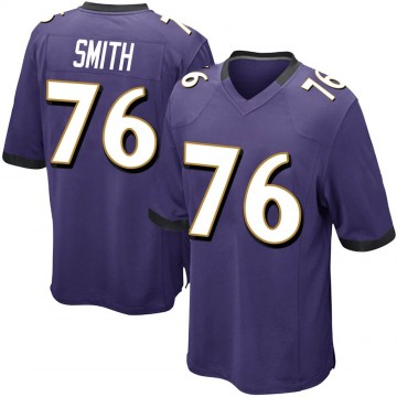 Youth Nike Baltimore Ravens Andre Smith Purple Team Color Jersey - Game
