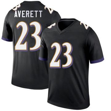 Youth Nike Baltimore Ravens Anthony Averett Black Jersey - Legend