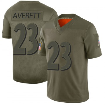 Youth Nike Baltimore Ravens Anthony Averett Camo 2019 Salute to Service Jersey - Limited