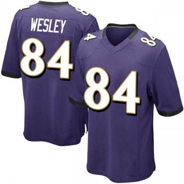 Youth Nike Baltimore Ravens Antoine Wesley Purple Team Color Jersey - Game
