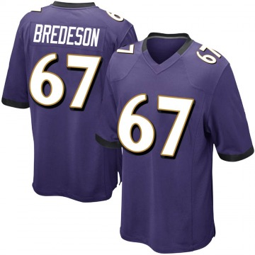 Youth Nike Baltimore Ravens Ben Bredeson Purple Team Color Jersey - Game