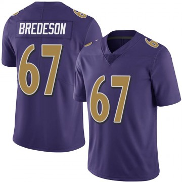 Youth Nike Baltimore Ravens Ben Bredeson Purple Team Color Vapor Untouchable Jersey - Limited