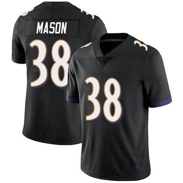 Youth Nike Baltimore Ravens Ben Mason Black Alternate Vapor Untouchable Jersey - Limited