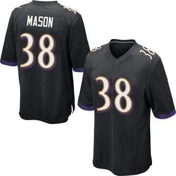 Youth Nike Baltimore Ravens Ben Mason Black Jersey - Game