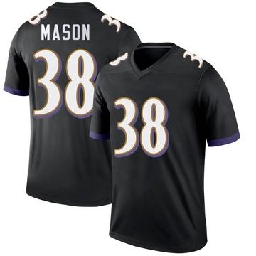 Youth Nike Baltimore Ravens Ben Mason Black Jersey - Legend