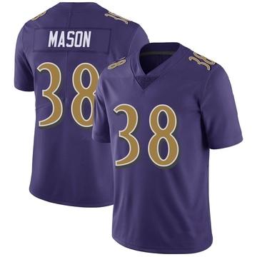 Youth Nike Baltimore Ravens Ben Mason Purple Color Rush Vapor Untouchable Jersey - Limited