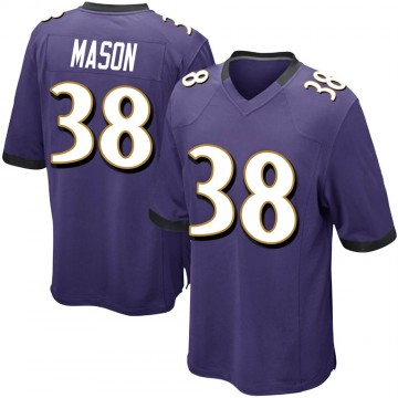 Youth Nike Baltimore Ravens Ben Mason Purple Team Color Jersey - Game