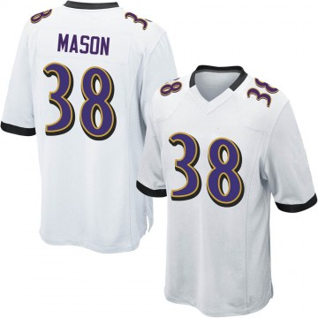 Youth Nike Baltimore Ravens Ben Mason White Jersey - Game