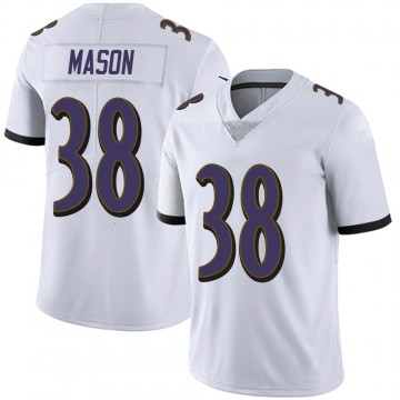 Youth Nike Baltimore Ravens Ben Mason White Vapor Untouchable Jersey - Limited