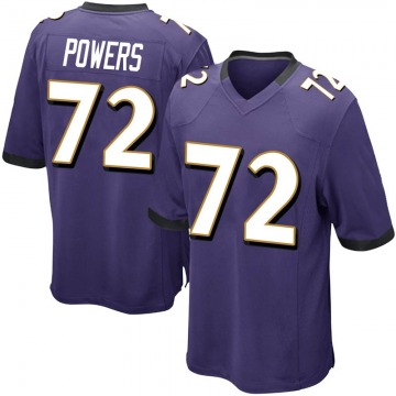 Youth Nike Baltimore Ravens Ben Powers Purple Team Color Jersey - Game