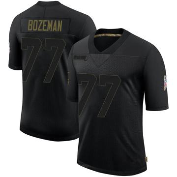 Youth Nike Baltimore Ravens Bradley Bozeman Black 2020 Salute To Service Jersey - Limited