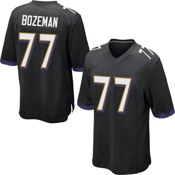 Youth Nike Baltimore Ravens Bradley Bozeman Black Jersey - Game