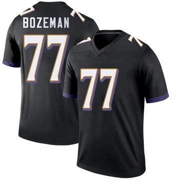 Youth Nike Baltimore Ravens Bradley Bozeman Black Jersey - Legend