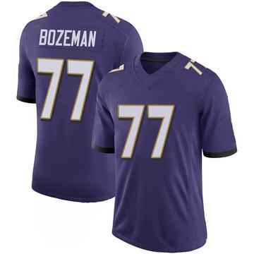 Youth Nike Baltimore Ravens Bradley Bozeman Purple 100th Vapor Jersey - Limited