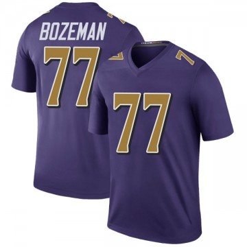 Youth Nike Baltimore Ravens Bradley Bozeman Purple Color Rush Jersey - Legend