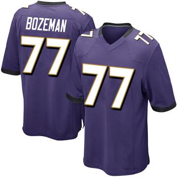 Youth Nike Baltimore Ravens Bradley Bozeman Purple Team Color Jersey - Game