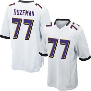 Youth Nike Baltimore Ravens Bradley Bozeman White Jersey - Game