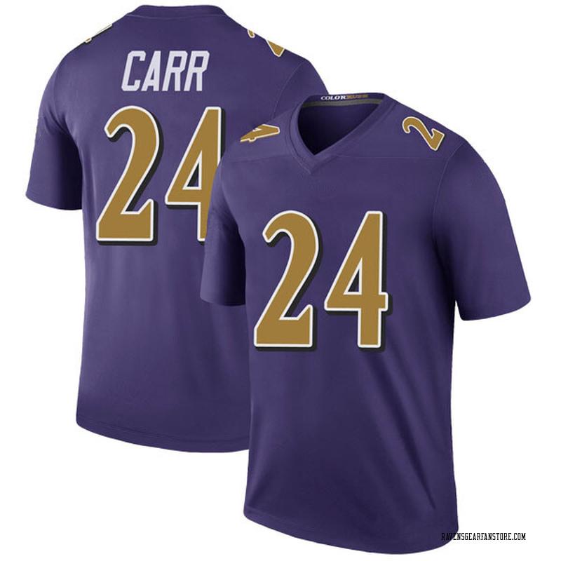 watch 57f4b b1d8f Youth Nike Baltimore Ravens Brandon Carr Purple Color Rush Jersey - Legend