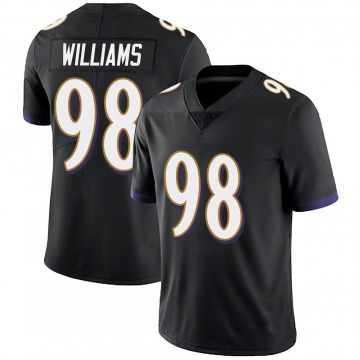Youth Nike Baltimore Ravens Brandon Williams Black Alternate Vapor Untouchable Jersey - Limited