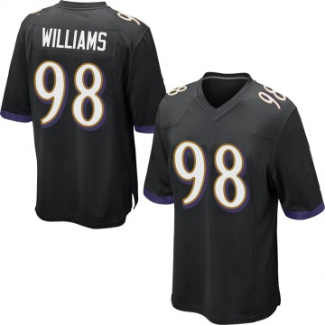 Youth Nike Baltimore Ravens Brandon Williams Black Jersey - Game