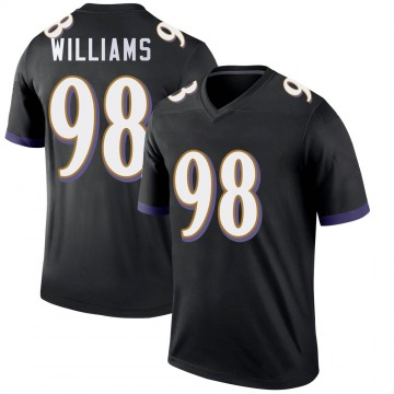 Youth Nike Baltimore Ravens Brandon Williams Black Jersey - Legend
