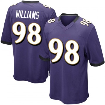 Youth Nike Baltimore Ravens Brandon Williams Purple Team Color Jersey - Game