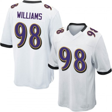 Youth Nike Baltimore Ravens Brandon Williams White Jersey - Game