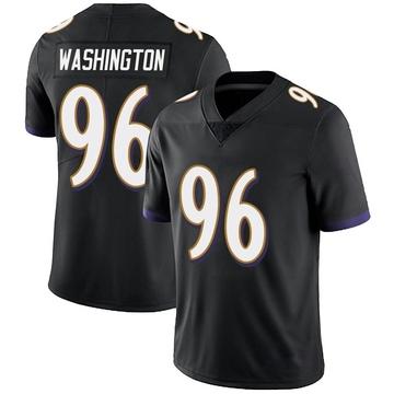Youth Nike Baltimore Ravens Broderick Washington Jr. Black Alternate Vapor Untouchable Jersey - Limited