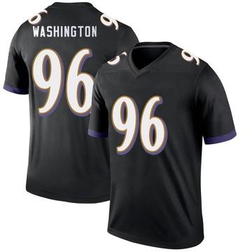 Youth Nike Baltimore Ravens Broderick Washington Jr. Black Jersey - Legend