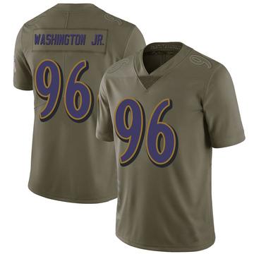 Youth Nike Baltimore Ravens Broderick Washington Jr. Green 2017 Salute to Service Jersey - Limited