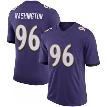 Youth Nike Baltimore Ravens Broderick Washington Jr. Purple 100th Vapor Jersey - Limited