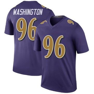 Youth Nike Baltimore Ravens Broderick Washington Jr. Purple Color Rush Jersey - Legend