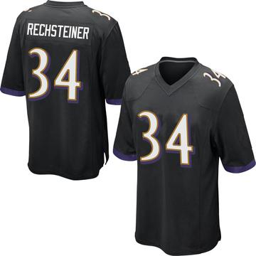 Youth Nike Baltimore Ravens Bronson Rechsteiner Black Jersey - Game