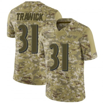 Youth Nike Baltimore Ravens Brynden Trawick Camo 2018 Salute to Service Jersey - Limited