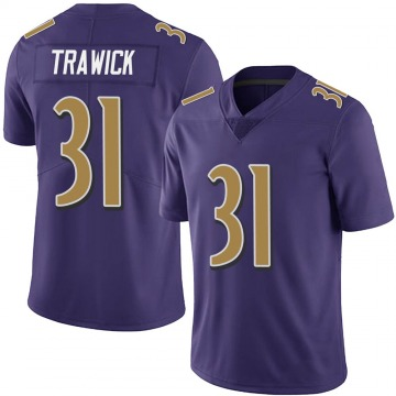 Youth Nike Baltimore Ravens Brynden Trawick Purple Team Color Vapor Untouchable Jersey - Limited