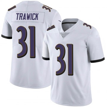 Youth Nike Baltimore Ravens Brynden Trawick White Vapor Untouchable Jersey - Limited