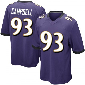 Youth Nike Baltimore Ravens Calais Campbell Purple Team Color Jersey - Game