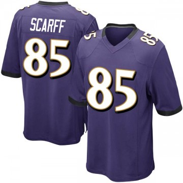 Youth Nike Baltimore Ravens Charles Scarff Purple Team Color Jersey - Game