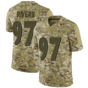 Youth Nike Baltimore Ravens Chauncey Rivers Camo 2018 Salute to Service Jersey - Limited