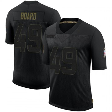 Youth Nike Baltimore Ravens Chris Board Black 2020 Salute To Service Jersey - Limited