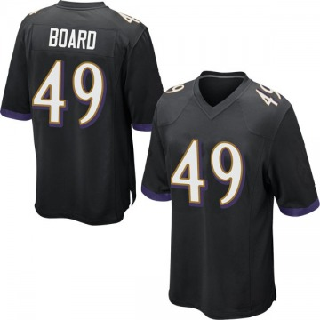 Youth Nike Baltimore Ravens Chris Board Black Jersey - Game