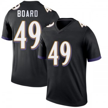 Youth Nike Baltimore Ravens Chris Board Black Jersey - Legend