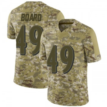 Youth Nike Baltimore Ravens Chris Board Camo 2018 Salute to Service Jersey - Limited